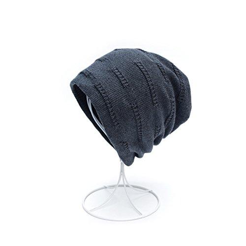 Gorro B lana Tapa Moda Cap de grueso de de Añadir punto pila Gorro Cachemira gorro OqSH5Ww56x