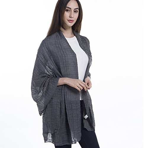 Light Weight Sheer Scarf - NiAiWei Women Extra Long Shawl Wrap for Winter, Solid Color Scarves by Niaiwei (Image #4)