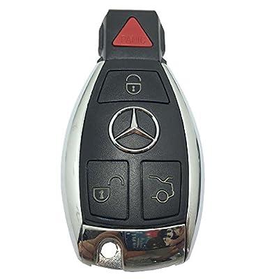 Horande Car Key Fob Case fits for Mercedes-Benz C E S M CLS CLK GLK GL Class Smart Remote Control Key Fob Cover 3+ Panic Button No Chip Inside: Automotive