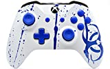 ''Toxic Blue'' Xbox One S Rapid Fire Custom Modded Controller 40 Mods for All Major Shooter Games, Auto Aim, Quick Scope, Auto Run, Sniper Breath, Jump Shot, Active Reload & More (with 3.5 jack)