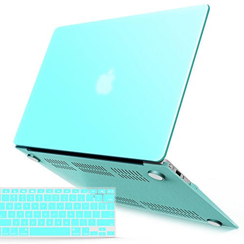 - iBenzer MacBook Air 13 Inch Case, Soft Touch Hard Case Shell Cover with Keyboard Cover for Apple MacBook Air 13 A1369 1466 NO Touch ID, Turquoise MMA13TBL+1 N