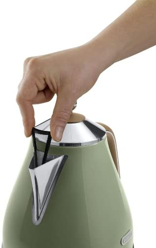 Delonghi Vintage Icona Olive Green Jug Kettle