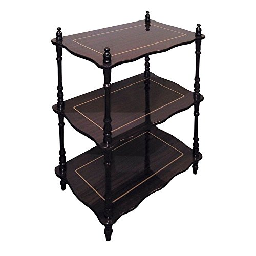 NEW 3-Tier Shelves Stand Bookcase Cherry Curio Trinkets Plants Accent Table Nice ()