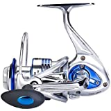 Diwa Spinning Fishing Reels for Saltwater Freshwater 3000 4000 5000 6000 7000 Spools Ultra Smooth Ultralight Powerful Trout Bass Carp Gear 13+1 Stainless Ball Bearings Metal Body Ice Fishing Reels