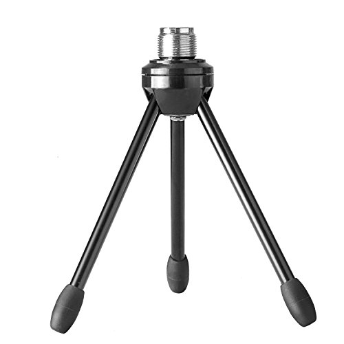 Neewer Desktop Desk Microphone Stand Foldable Tripod with Non-slip Feet, Durable Iron Construction, 3/8-inch and 5/8-inch Threaded Mount, (Desktop Tripod)