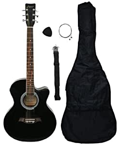 crescent ae41 bk ca 41 acoustic electric cutaway guitar starter kit black. Black Bedroom Furniture Sets. Home Design Ideas