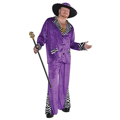 Amscan Adult Sugar Daddy Pimp Costume Plus Size -