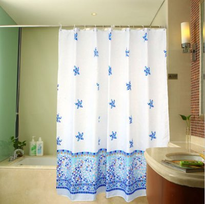 Best shower curtains - 100% Polyester The size 72¡Á72inches Has 12 holes to which rings attach - shower-curtains, bathroom-linens, bathroom - 41Yj5H3iQoL -
