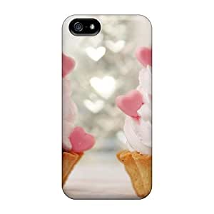 Lauragroff03 Iphone 5/5s Hybrid Tpu Case Cover Silicon Bumper Sweet Cakes With Wipped Cream