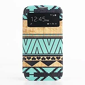 LZX Oil Painting Pattern PU Leather Cover with Card Slot Cover for Samsung Galaxy S4 I9500