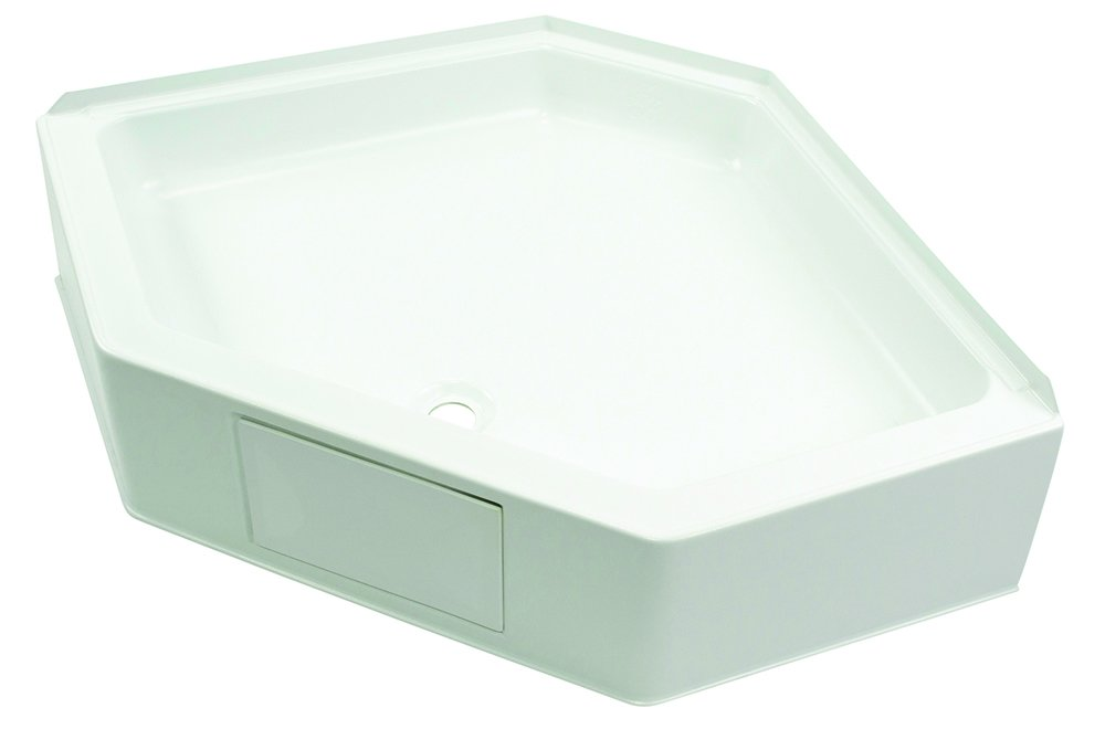 Lippert Components 209797 Better Bath White 34' x 34' Neo Angle RV Shower Pan W10-1906