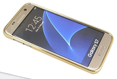 TPU SchutzHülle für Iphone 6 / 6S Silikon Hülle Etui Case Cover Silikontasche in Transparent mit GOLD-Umrandung Silikonschale Tasche Bumper Zubehör @ Energmix