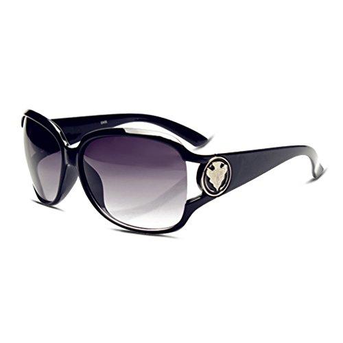 Women's Retro Luxury Polarized Sunglasses Retro Eyewear Oversized Goggles Sunglasses Grey Lens & Black Frame