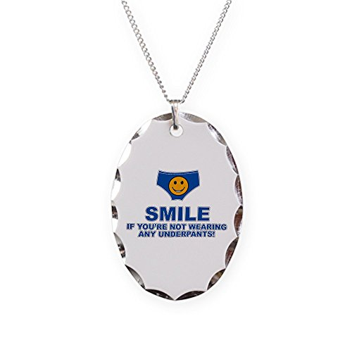 Royal Lion Necklace Oval Charm Smile If Not Wearing Underwear -