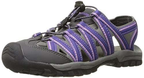 Northside Women's Santa Cruz Closed Toe Sandal, Purple/Gray, 8 M US