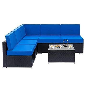 Amazon.com - Wrea Fully Equipped Weaving Rattan Sofa Set ...