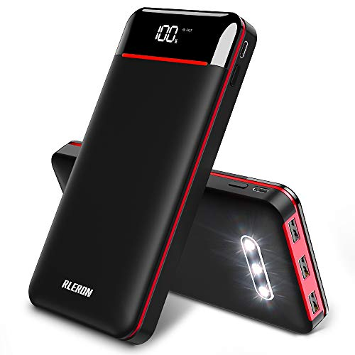 Power Bank Portable Charger 25000mAh High Capacity 3 USB Outputs Charge External Battery Pack with LCD Display, Compatible with Smart Phones,Android Phone,Tablet and More