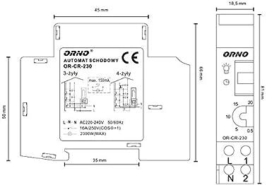 Luz de escaleras automática interruptor de relé de tiempo temporizador de escalera: Amazon.es: Iluminación