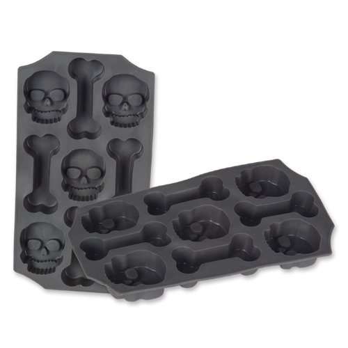 Skull and Bones Ice Mold, Gray Pkg/3 -