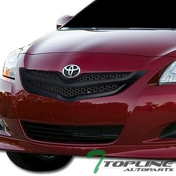 Topline Autopart Black Honeycomb Mesh Front Bumper Grill Grille Cover ABS 07-09 Toyota Yaris