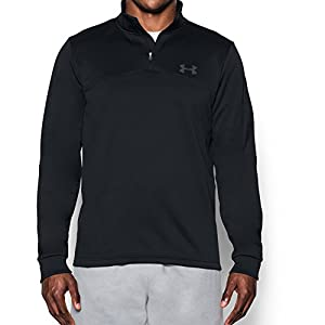 Under Armour Men's Storm Armour Fleece 1/4 Zip, Black/Graphite, Large