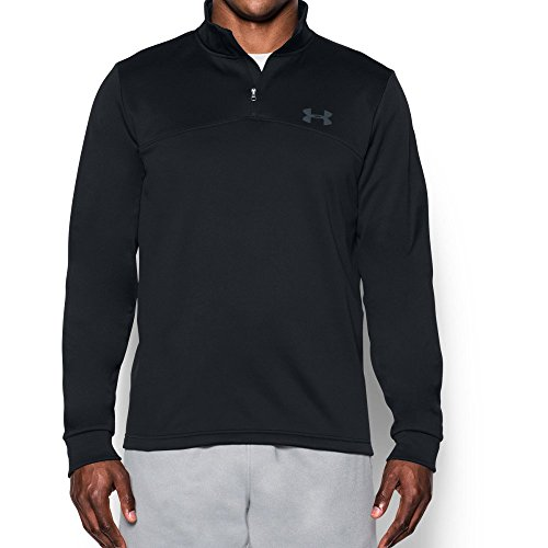 Mens Golf Pullover - Under Armour Men's Storm Armour Fleece 1/4 Zip, Black (001)/Graphite, Medium