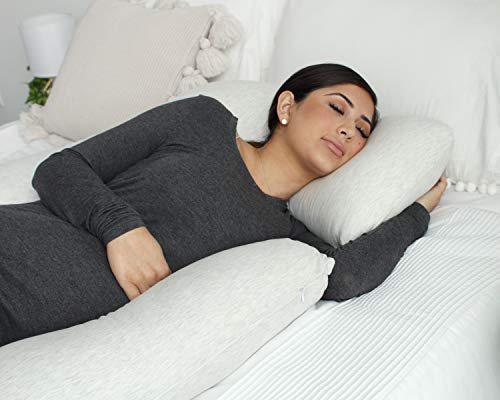 PharMeDoc Pregnancy Pillow, U-Shape Full Body Pillow and Maternity Support with Detachable Extension - Support for Back, Hips, Legs, Belly for Pregnant Women by PharMeDoc (Image #4)