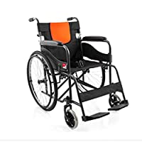 Portable Folding Back Wheelchair Disabled People Manual Lightweight Wheelchair Health Equipment