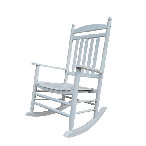 (Rocking Rocker-A040WT White Porch Rocker/Rocking Chair -Easy to Assemble-Comfortable Size-Outdoor or Indoor Use)