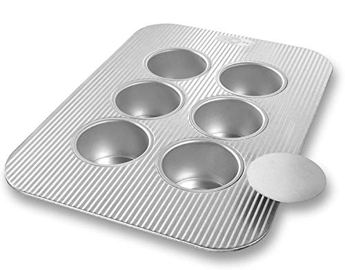USA Pan Bakeware Mini Cheesecake Pan with Removable Bottom,