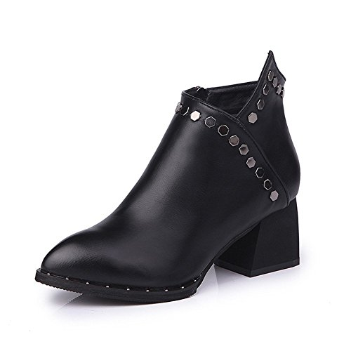 Shoes Martin DIDIDD Zipper Boots Ankle Women'S Heel Ladies Elegant Tips Eu Boots 36 Cylinder Short R55qr74xw