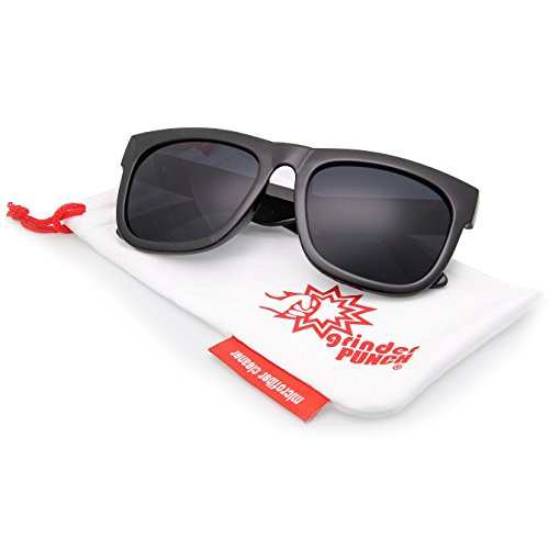Oversized Wayfarer Sunglasses Super Dark Lens Black Thick Horn Rim - Oversized Wayfarers