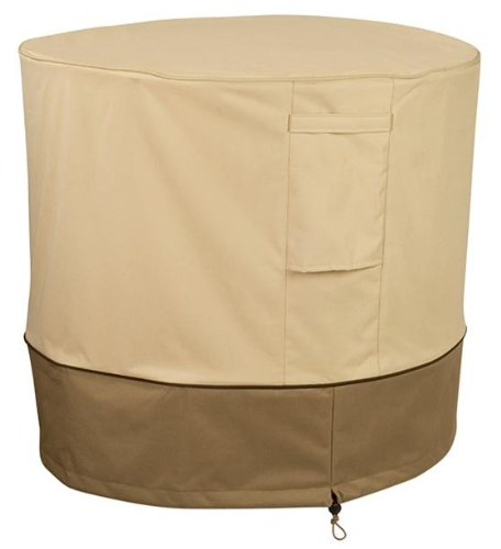 Veranda Air Conditioner Cover, ROUND, BEIGE SAND