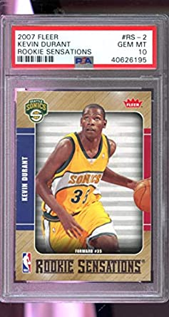 2007-08 Upper Deck #234 Kevin Durant Rookie Card Graded BCCG 9