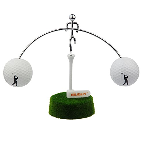 NiuGuy Mini Golf Balance Toy, Weightlifter Kinetic - Art Balance Toy Golf- Balancing Decompressive, Science Psychology, Home, Offic Decor Desk - Decor Toy ()
