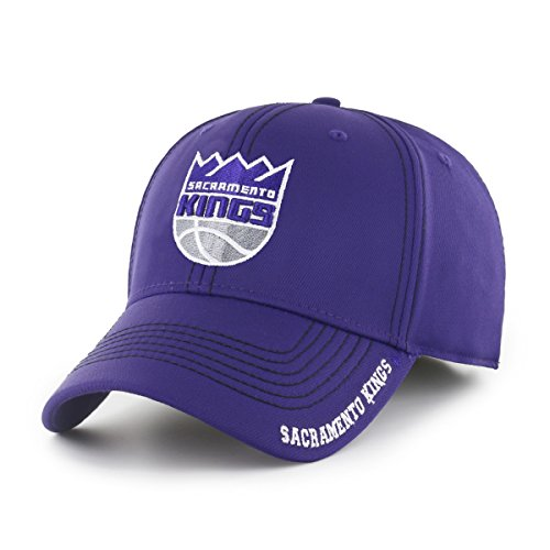 NBA Sacramento Kings Adult Start Line Ots Center Stretch Fit Hat, Large/X-Large, Purple