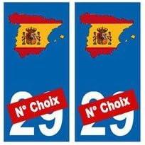 Euskal Herria EH Adhesivo para placa de matrícula, diseño de España: Amazon.es: Coche y moto