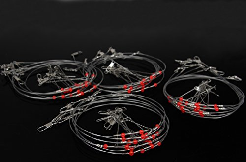 10PCS-Fishing-Rigs-Wire-Leader-Trace-with-Snap