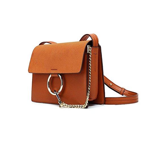 Shopping Embrayages Brown Femmes Sac Sacs Bandoulière tout Qiaoy Mode Épaule En Main Fourre À Cuir OqH46z