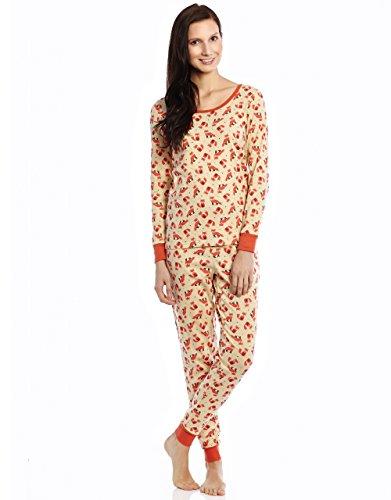 Women 2 Piece Pajama Fox Medium