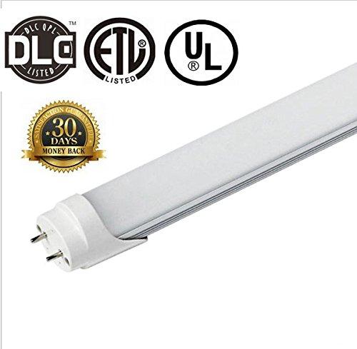 ZTSS T8 LED Light Tube, 2FT 24Inch, 9W(Equivalent 30W Fluorescent Bulb),3000K (Warm Light), 1000~1200 Lumens, Milky Cover, 50000 Hours, CE & UL & DLC Certification Dual-End & Single-End Power
