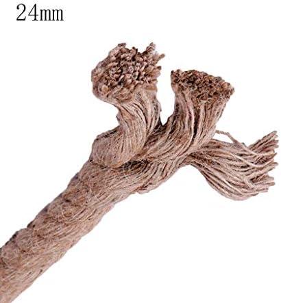 ZHWNGXO Dick Hanfseil 24mm, Bengal Seil Robust und langlebig Segeln Seil Wetter (braun) (Size : 50m)