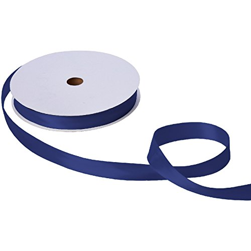 Jillson & Roberts Double-Faced Satin Ribbon, 1'' Wide x 100 Yards, Navy by Jillson Roberts