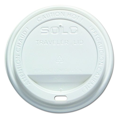 Solo TLP316-0007 White Traveler Plastic Lid - For Solo Paper Hot Cups (Case of 1000) (Recycled Mug Travel)