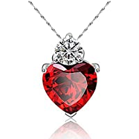 Sumanee Gift For Girlfriend Mum Wife Charm Jewelry Crystal Necklace Pendant Love Heart