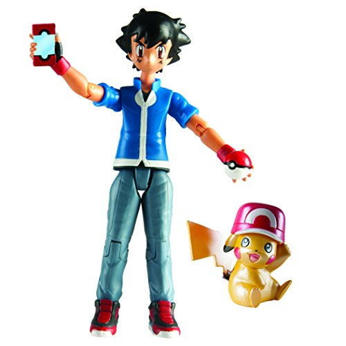 Pokemon Pikachu and Ash Figure Set: Pokemon 20th Anniversary San Diego Comic Con Exclusive Set Pokemon Ash Pikachu