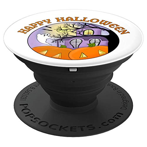 Happy Halloween Fun Haunted House Spooky PopSockets Grip and Stand for Phones and Tablets]()