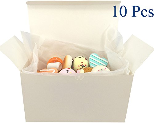 xes,Treat Boxes, Cake, Cookies, Goodies, Candy and Handmade Bath Bombs Shower Soaps, Scarf, Clothes Gift Boxes with Stickers and 10 Papers, Set of 10 (9 x 4.6 x 4.6 Inch) ()