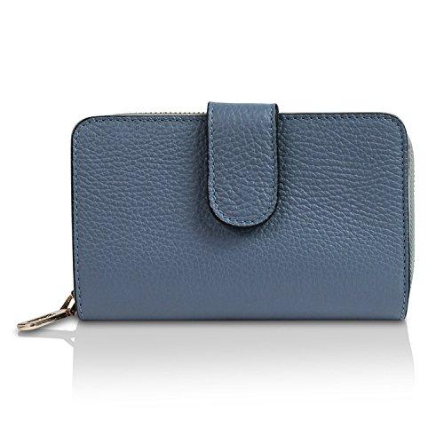 Vintage monnaie Portefeuille Italy In Made Glamexx24 Cuir Classique Bleu Style Bourse Porte nAqxx0EZRw