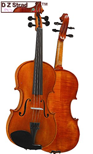 D Z Strad Violin Model 101 with Solid Wood with Case, Bow, and Rosin (1/8-Size) by D Z Strad